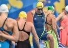 Jeanie Johansson in the semi finals of the women's 100 breaststroke (photo: Mike Lewis, Ola Vista Photography)
