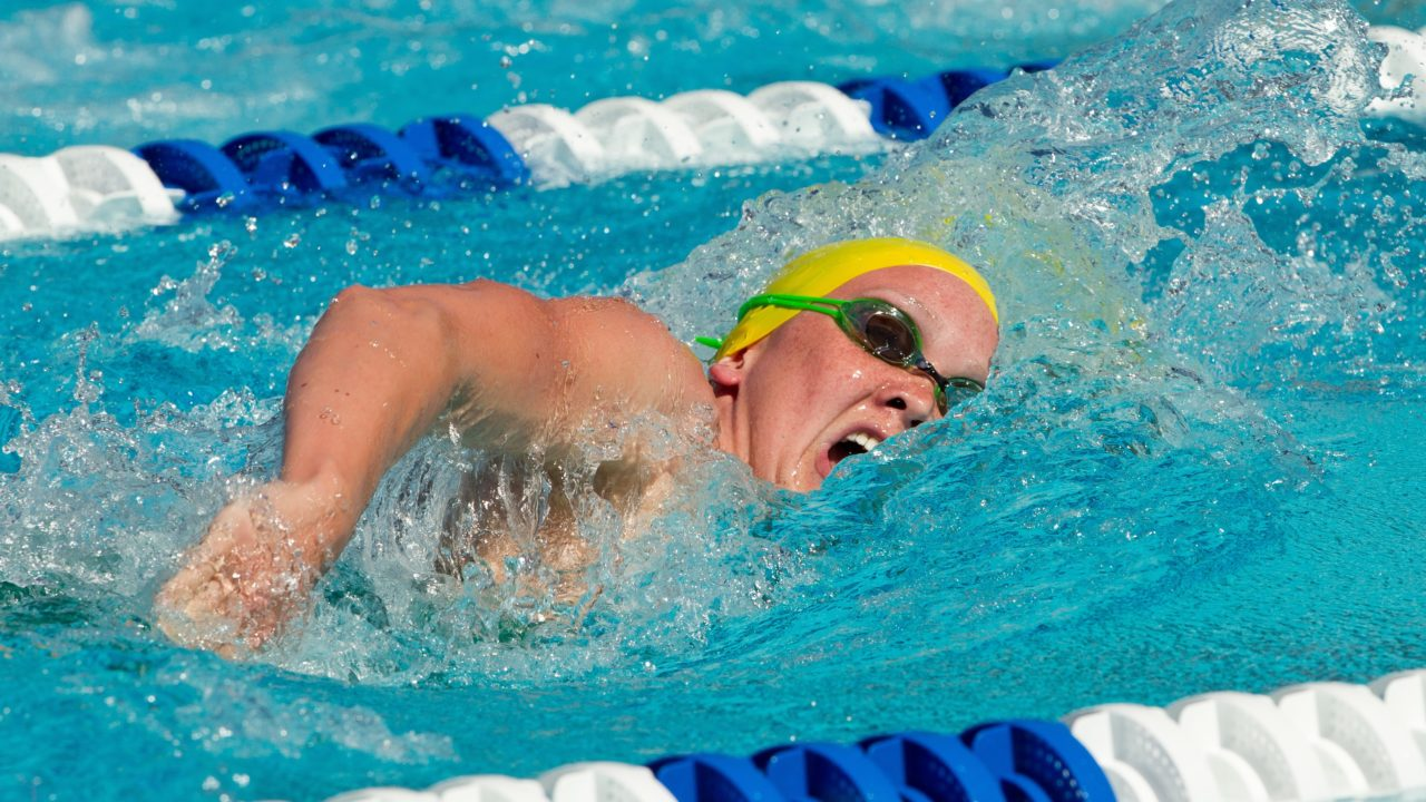 Thorpe Out in 200 Free Semi's; Palmer Breaks National Record
