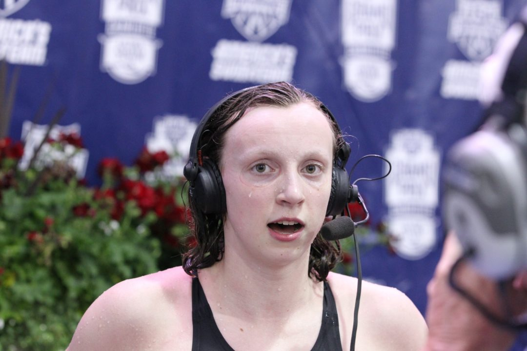 Ledecky Joins Class of Nation's Elite in 800 Free to Wrap Charlotte