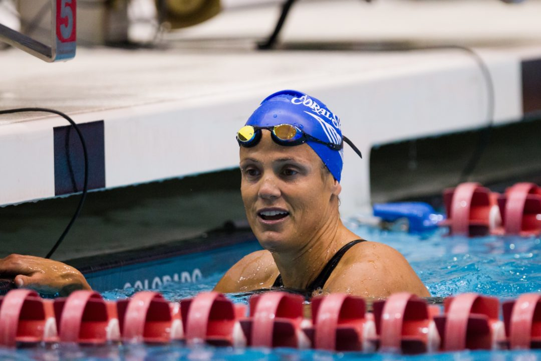 Dara Torres Tops 50 in College Station
