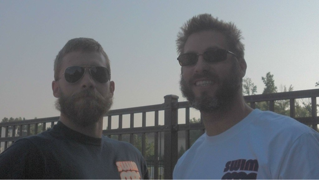 @Nick_Thoman and @NickBrunelli From SwimMAC rocking some serious playoff beards before shaving down later this week.