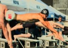 Ricky Berens dives in during the 2012 Speedo Grand Challenge (Photo Courtesy: Mike Lewis/OlaVistaPhotography.com)