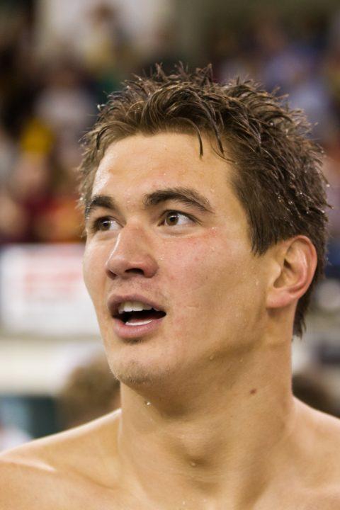 Adrian's Confidence Shows in 100 Free Prelims Swim