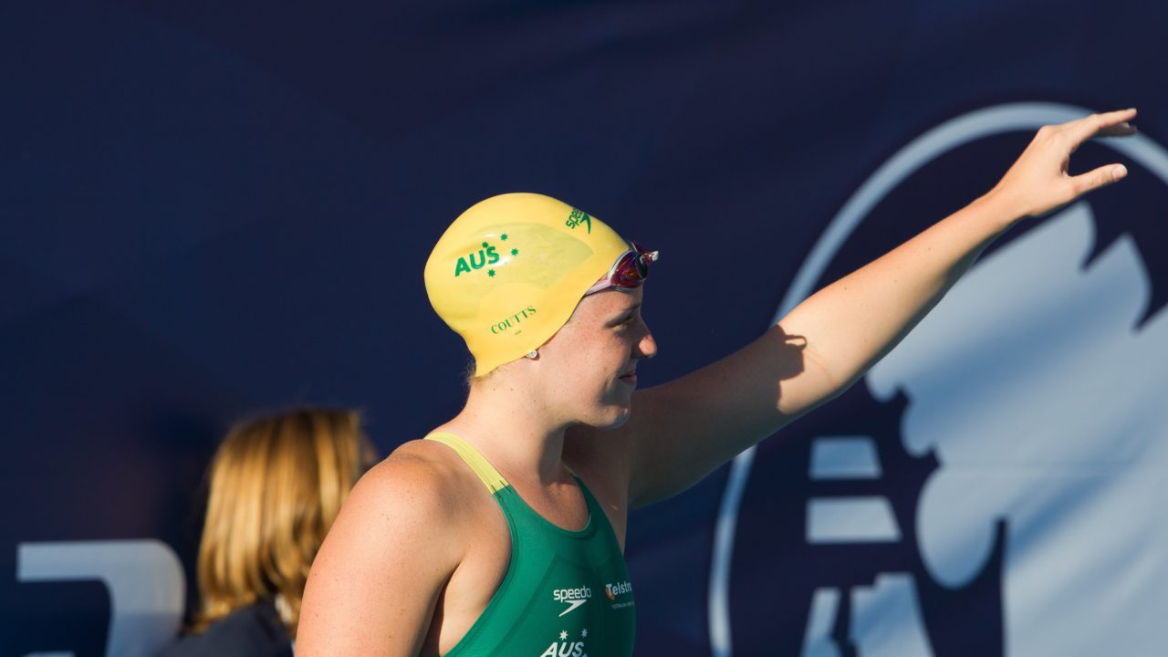 Alicia Coutts returns to the pool