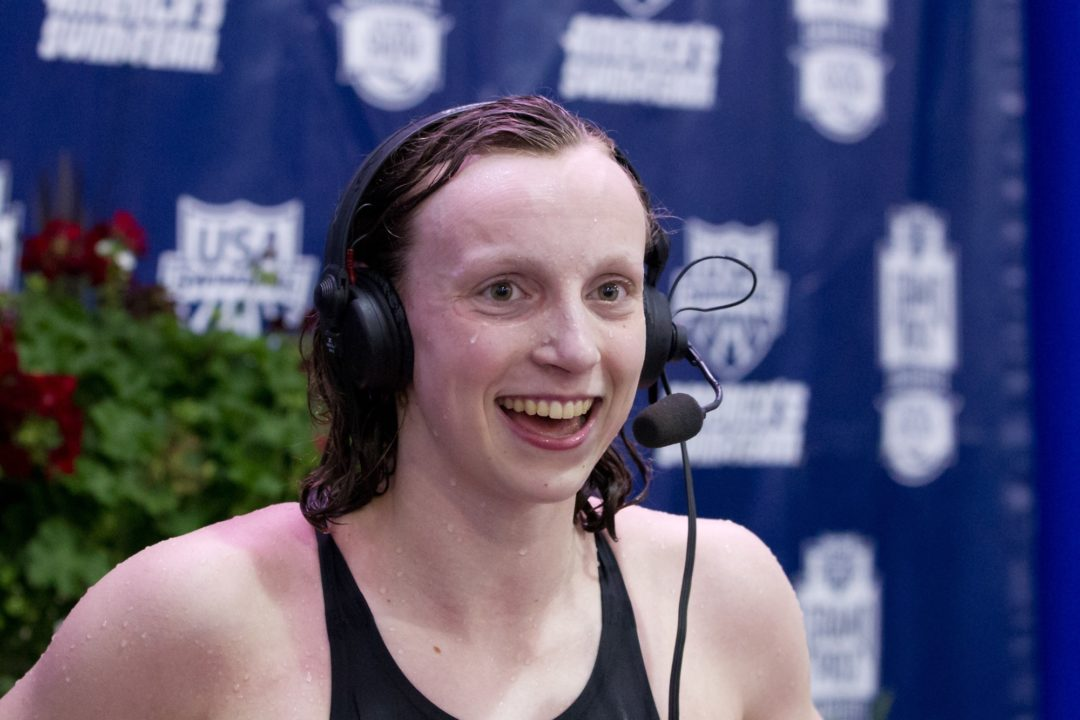 Katie Ledecky is the youngest member of the US Olympic Team