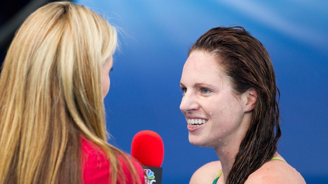 Seebohm Breaks Australian Record in Day 2 Prelims; Missy 2nd