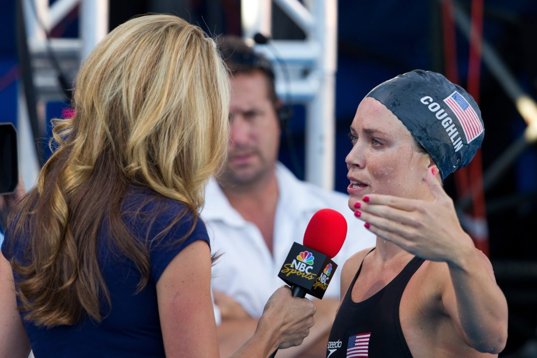 Natalie Coughlin To Commentate Second Stop of FINA Champions Series