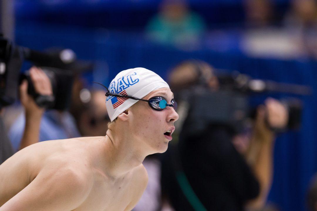 Kalisz Swims 4:12 in 400 IM; Mann Breaks National Age Group Record in Girls' Race