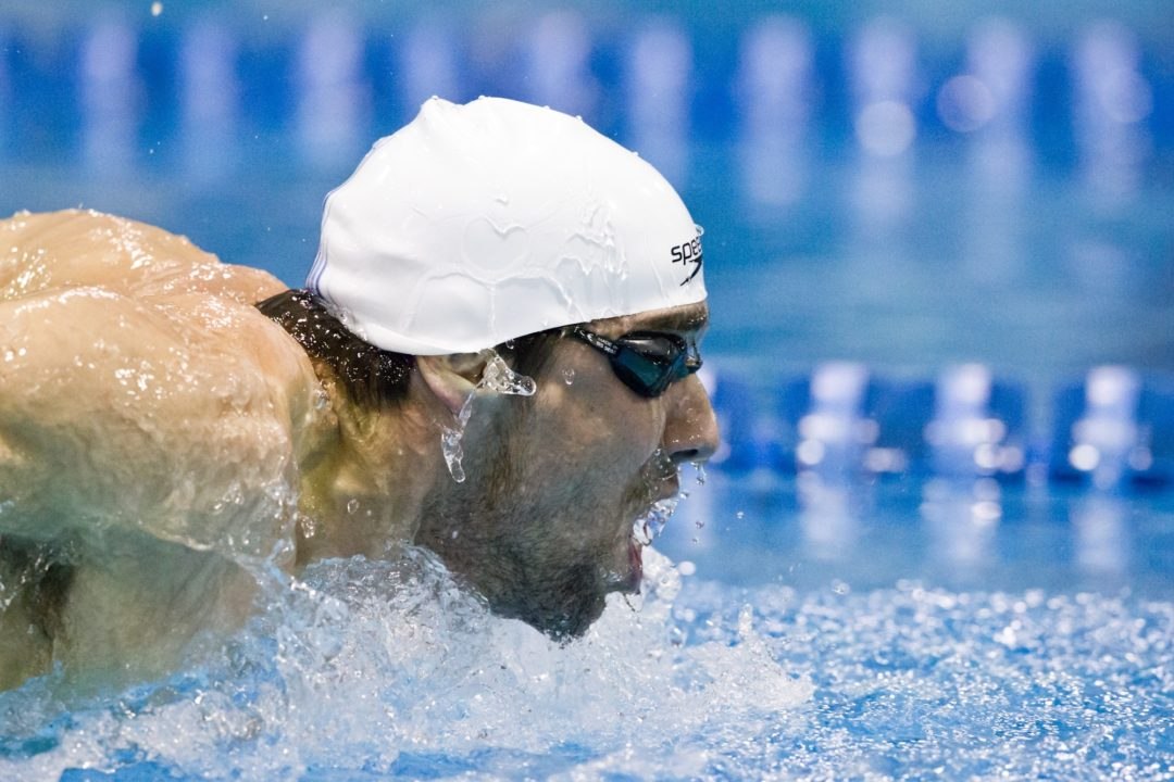 Phelps Begins Last Run at Olympic Three-Peat in 100 Fly Prelims