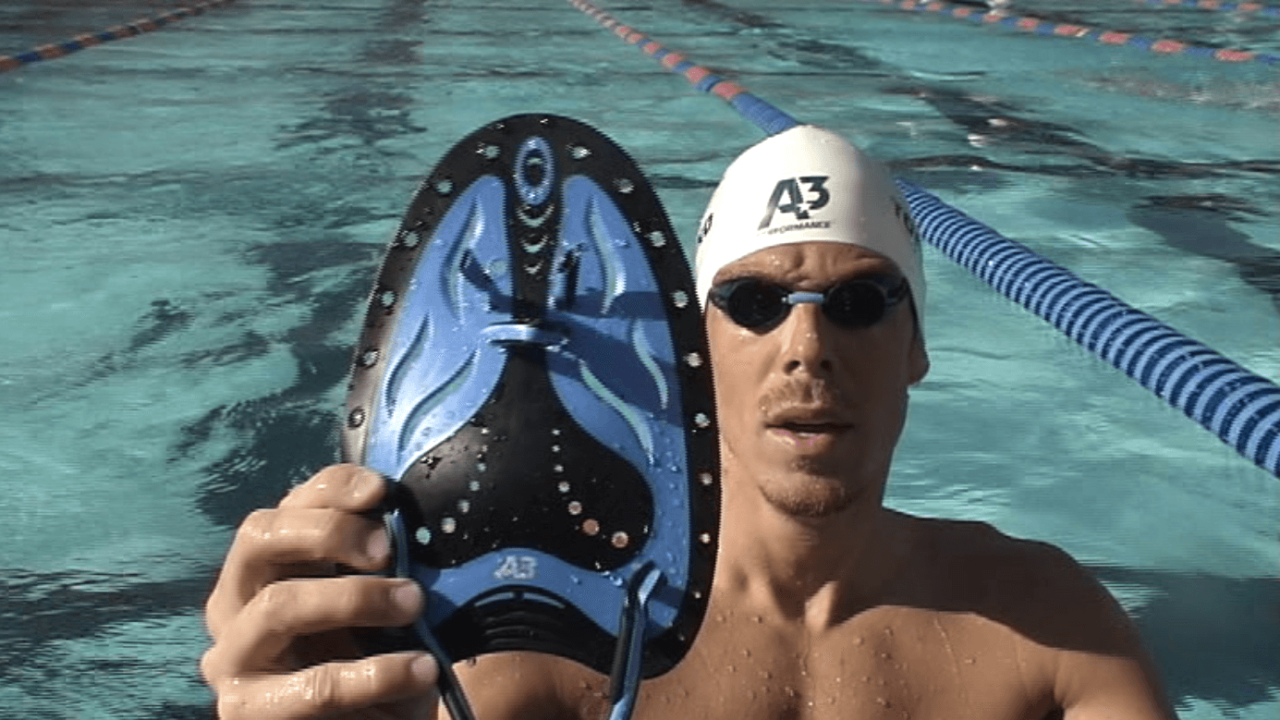 Darian Townsend shows off his A3 Performance Fusion Paddles