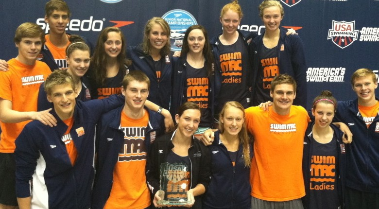 Rongione Breaks NAG Record; SwimMAC Takes Team Title on Final Day of Jr. Nats