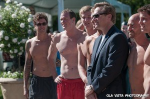 Anthony Ervin, Josh Schneider, Jimmy Feigen, Tom Sheilds, and event founder Bob Placak (Photo Credit: Mike Lewis)