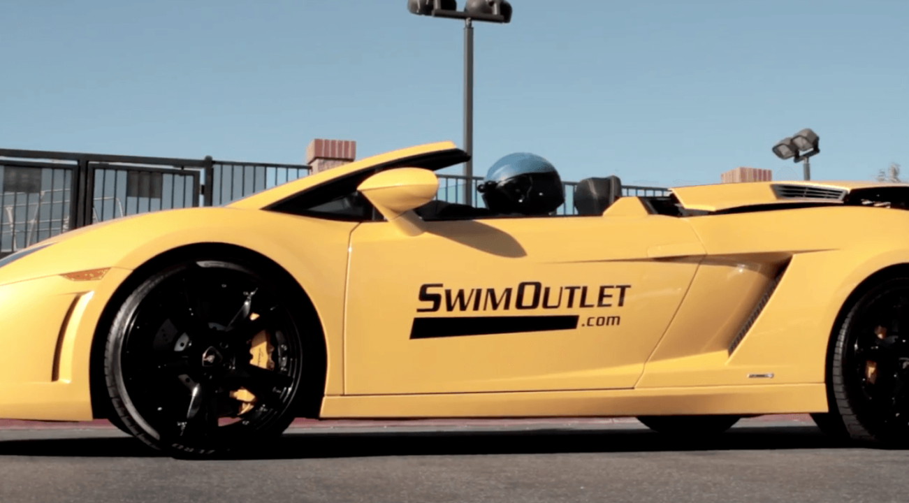 Azevedo Surprises Team with SwimOutlet.com Delivery in Lamborghini