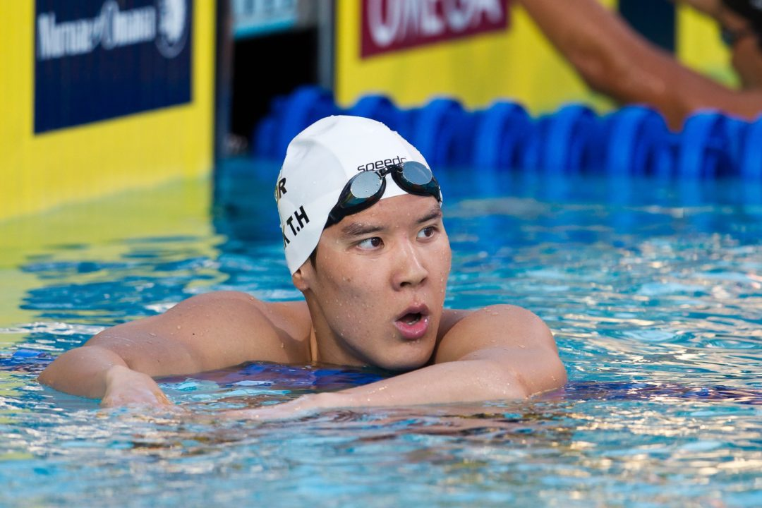 Park Tae Hwan Entered in 4 Events for Rio, Including 100 Free