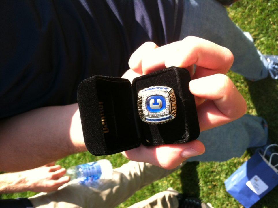 Cal Men Receive NCAA Championship Rings Saturday