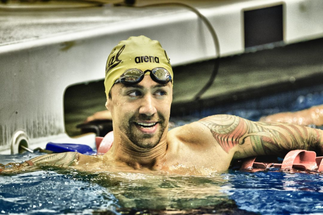 Anthony Ervin Working the World Cup Series
