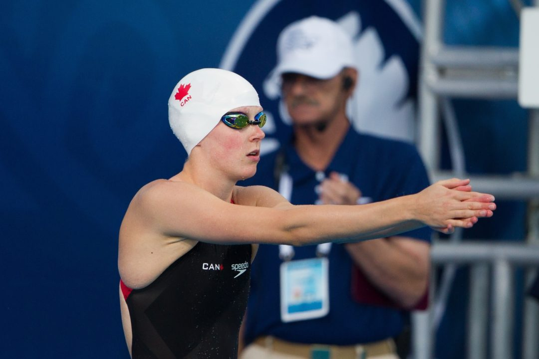 McCabe Puts Up Top Time in the 200 Breaststroke at Colleges' Cup