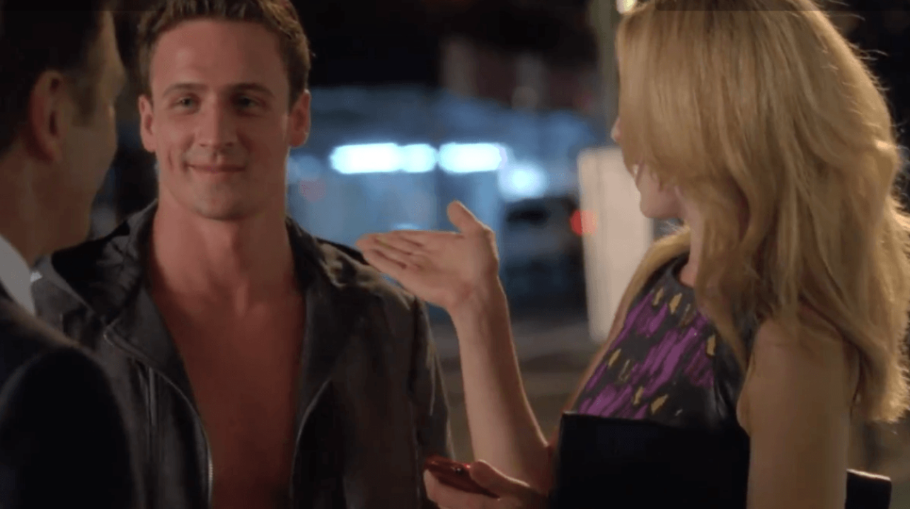 Ryan Lochte goes Shirtless on NBC's Premiere of 30 Rock