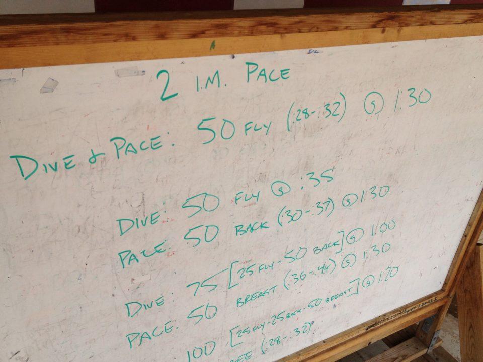 Coach's Log: 200 I.M. Pace