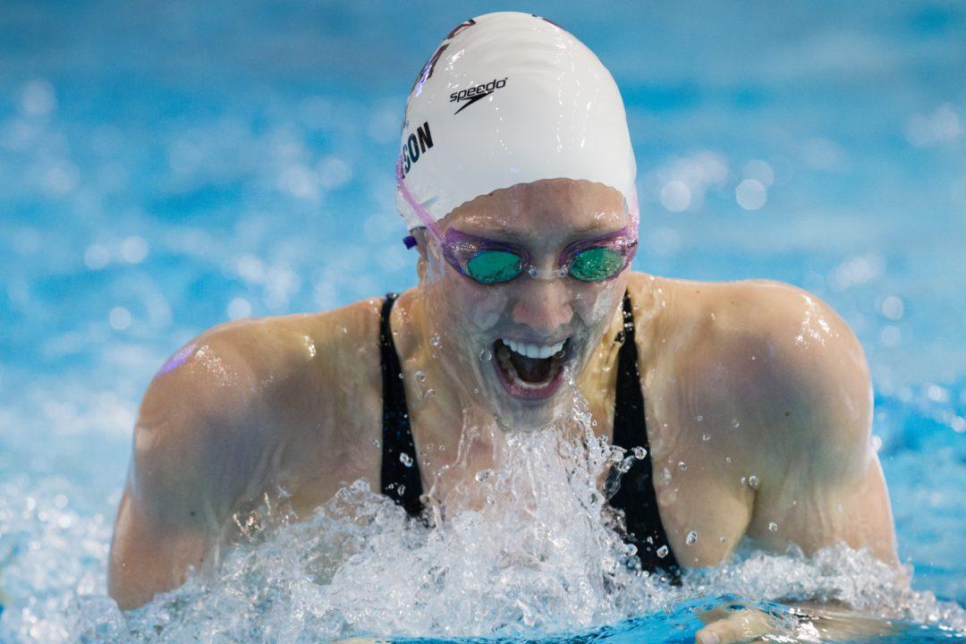 Breeja Swims 59.1; Cammile v. Beisel Olympian Battle Highlight Florida-Texas A&M Meet