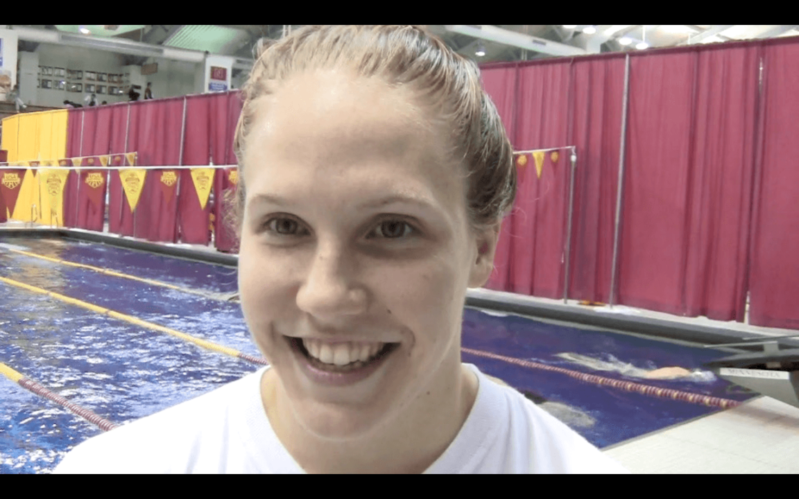 Ashley Steenvorden talks about winning 500 free at Grand Prix, and more