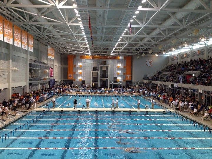 Tennessee aquatics 39 southern premier meet day one full recap for Mt hood community college pool open swim