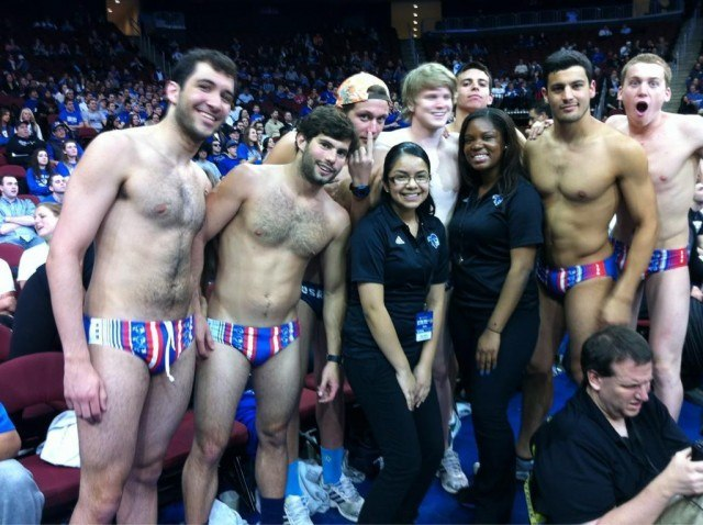 Seton Hall Swim Team, Speedo-clad at the Basketball Games