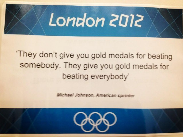 The London 2012 wall of inspiration...