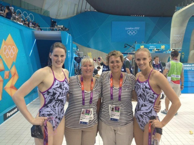 Missy Franklin, Coach Teri McKeever and Dana Vollmer
