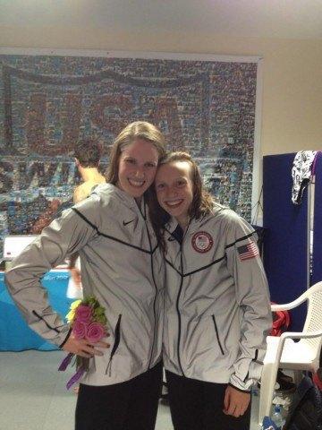 Missy Franklin and Kate Ledecky