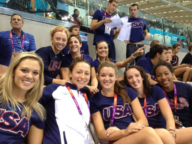 US Olympic Swim Team in the stands in London2012