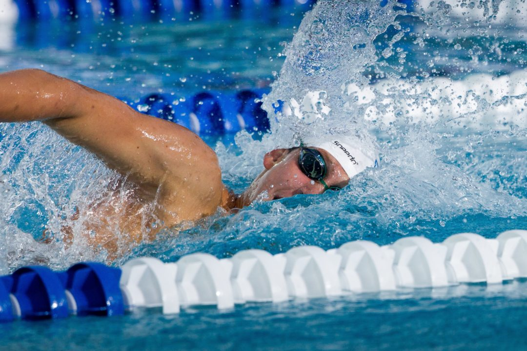 Chase Kalisz Leads Georgia Men to Tri-Meet Victory in College Debut