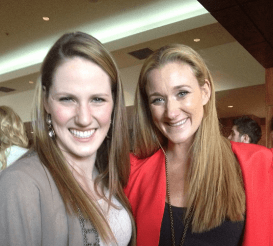 Olympic gold medalist, Missy Franklin, with Olympic Volleyball icon, Kerri Walsh