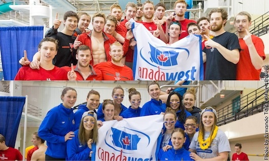 UBC wins the women Canada West Championships, while Calgary takes the men's title