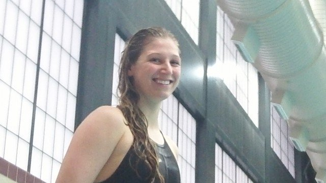 Abi Speers, Langley, 23.18, new state record at the 2013 Virginia State Swim Meet