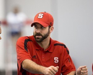 Braden Holloway, head coach of the Wolfpack swimming and diving program (Photo Credit: Tim Binning, theswimpictures)