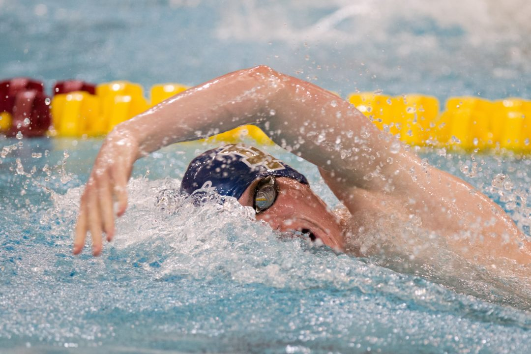 Frank Dyer Breaks School Record in First 1000 Free of Season as Notre Dame Tops Cleveland State