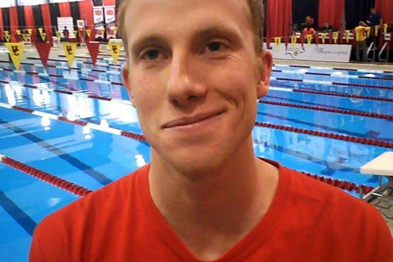Jason Block Interviewed at CIS Swimming Championships