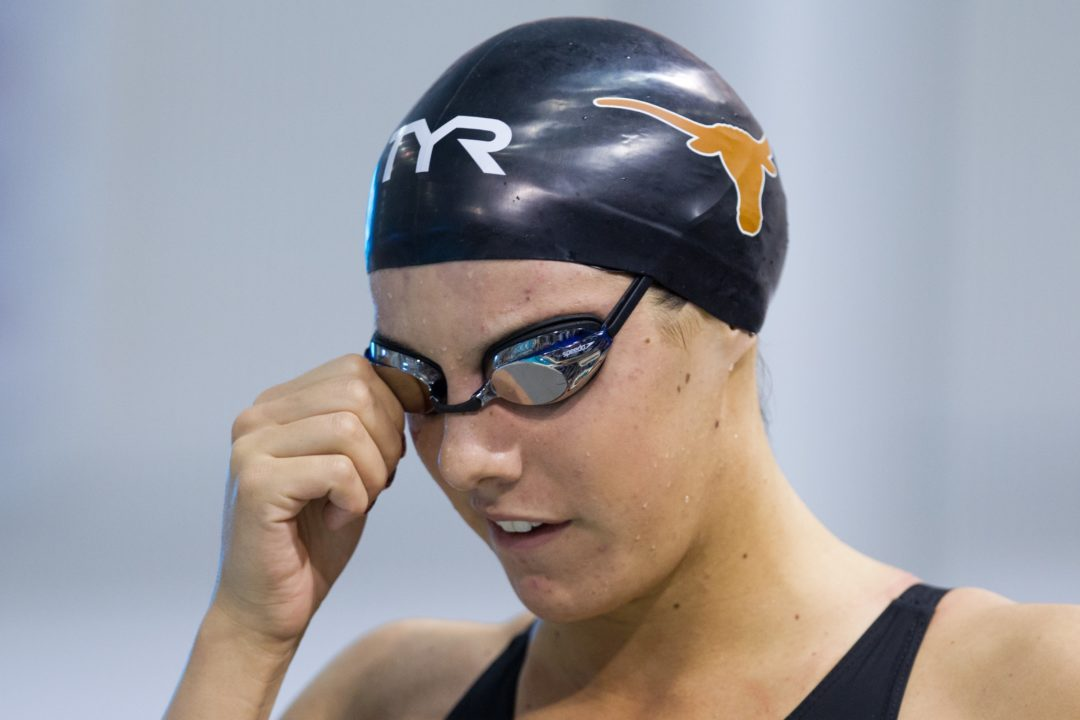 Texas Sweeps Four Relays; West Virginia Men Lead After Big Diving Day to Start Big 12's