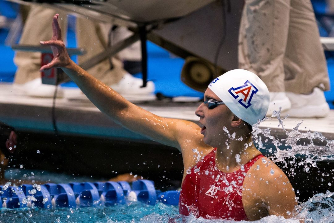 Margo Geer captures first NCAA Title in the 50 free