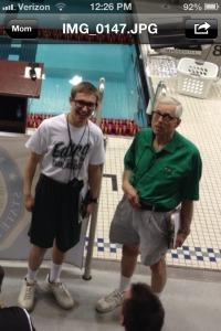 Connor and Edina coach