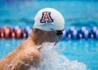 Kevin Cordes, splitting 49.56 on the breaststroke leg of Arizona medley relay (Photo Credit: Tim Binning, theswimpictures)