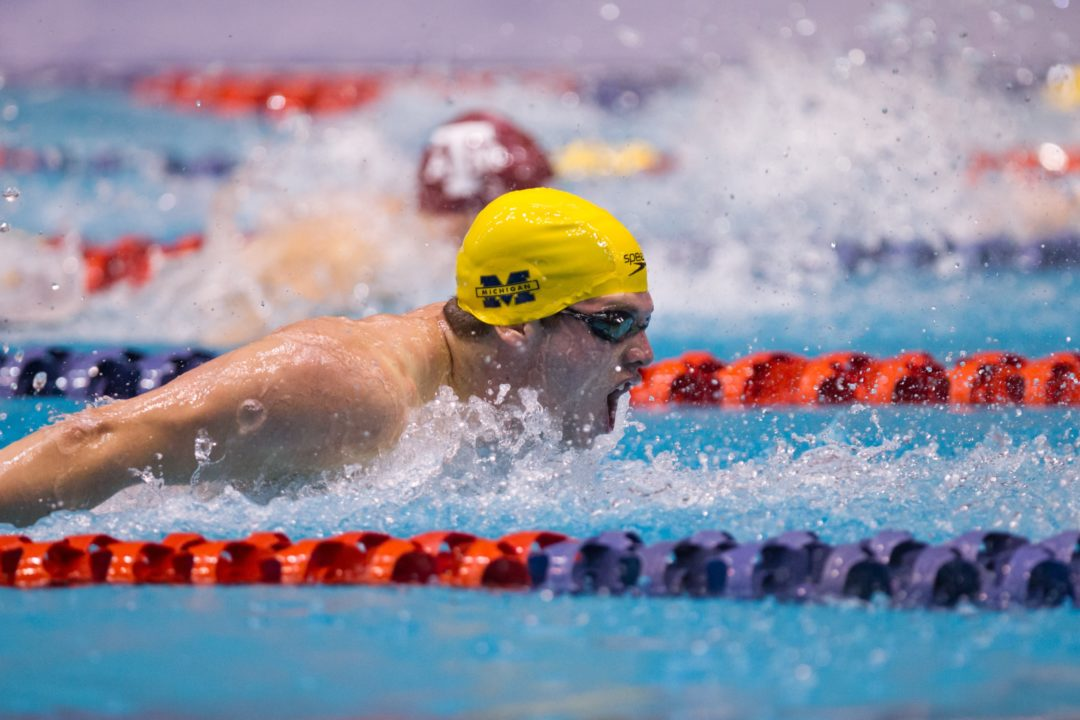 Men's NCAA Picks: Fletcher's 19.7 Butterfly a Deal-Maker for Wolverines