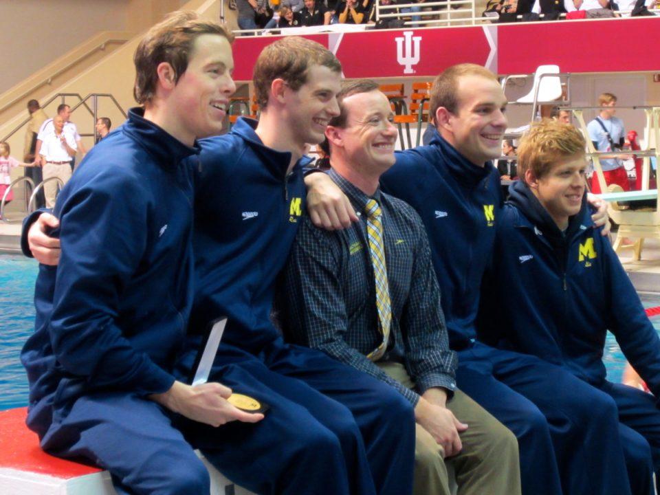 Video: Michigan Men Celebrate Their 3rd-Straight Big Ten Championship