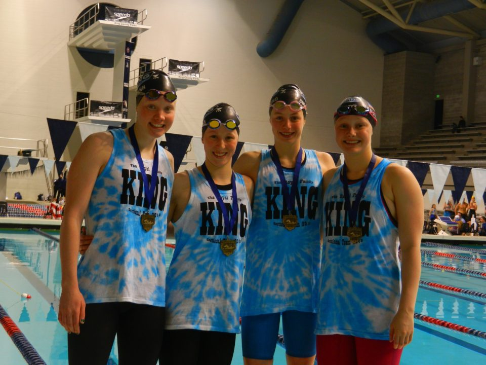 King Aquatic 400 Girls Medley Relay Breaks National Age Group Record