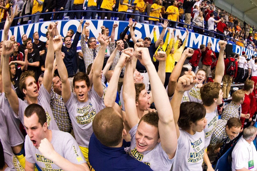 Michigan Men to Swim 8 Meets at Home, Including Big Ten Champs, in Title Defense Season