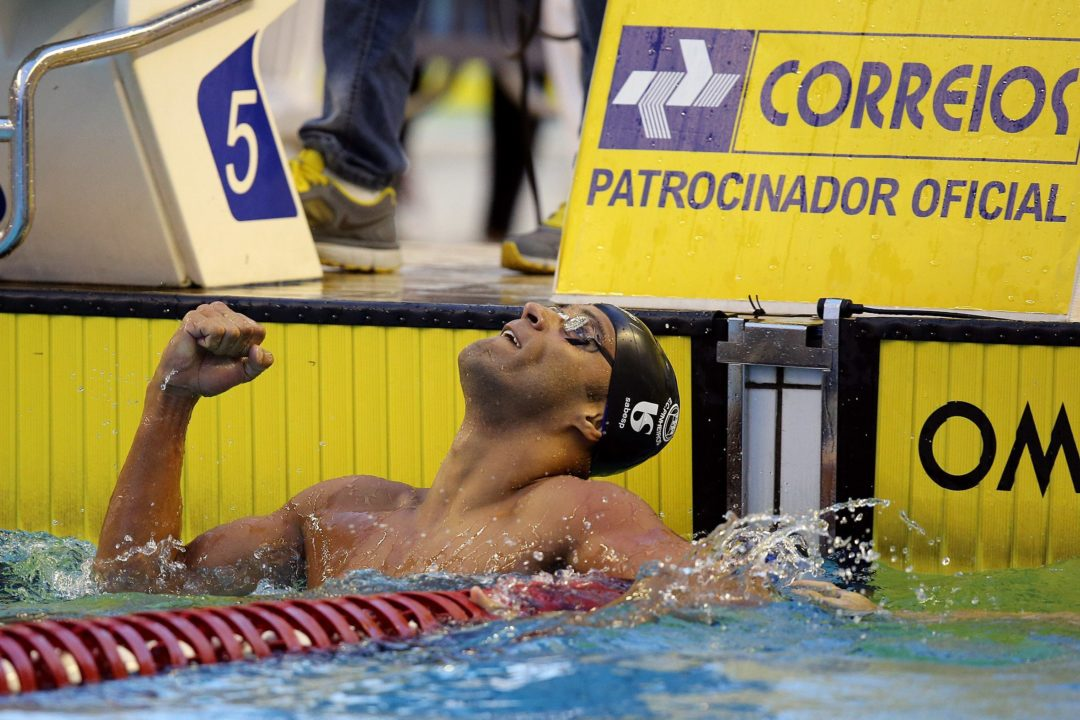 Joao Gomes Wins Tight 100 Breaststroke on Day 4 of Maria Lenk