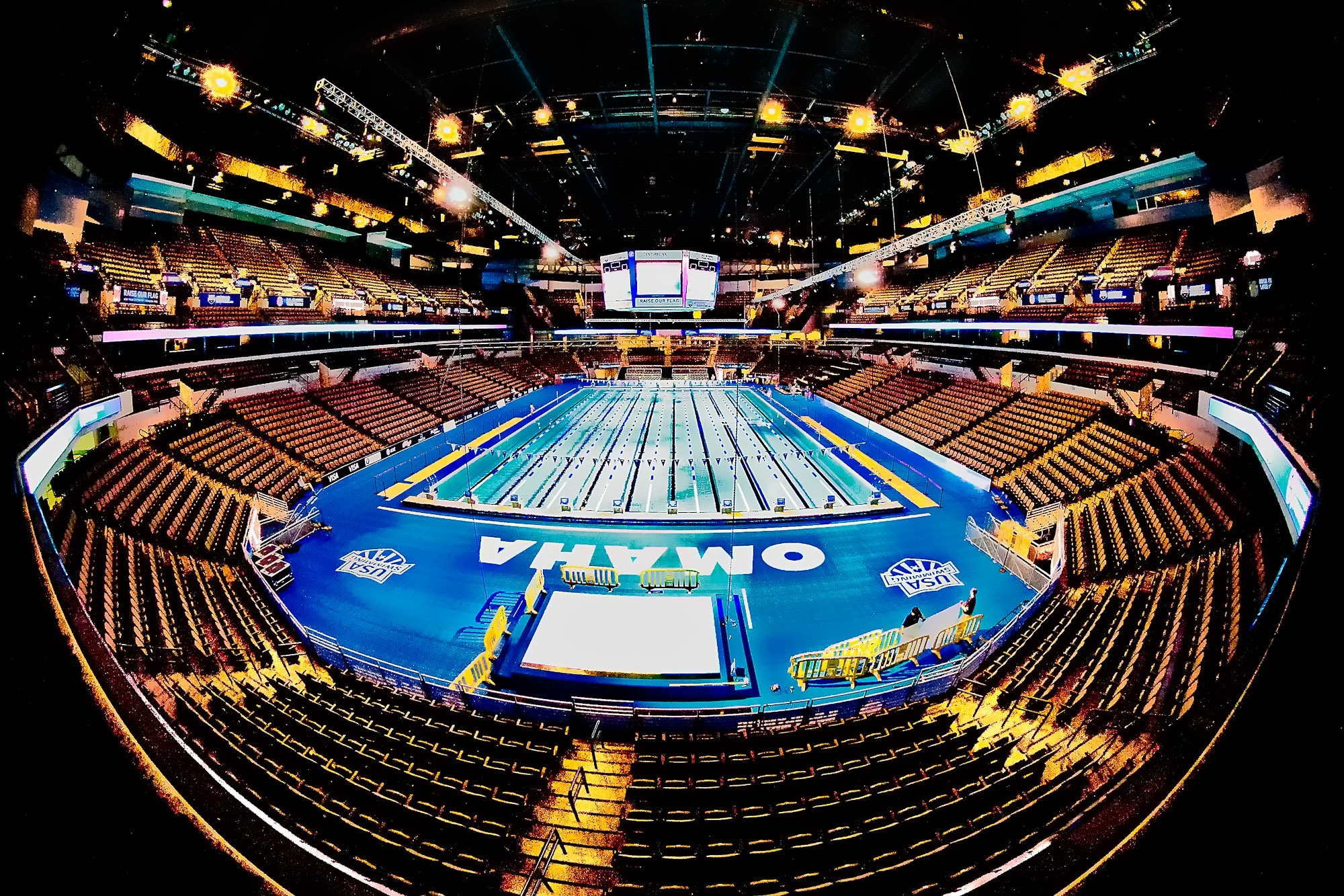 top 10 must visit sites for a swim meet in the united states - Olympic Swimming Pool 2013