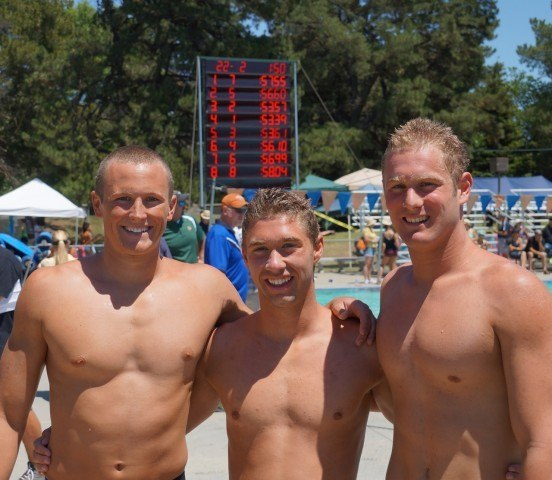 NCS 3 Breast record breakers (left-right): Charlie, Steven, Nick