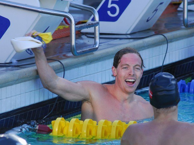 Michigan's Connor Jaeger has been hard to beat in 2013. He continued his roll with a win in the 400 free on Friday night in Santa Clara. (Photo: Bill Collins)